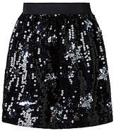 John Lewis Girls' Star Sequin Skirt, Black