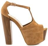 Jessica Simpson Dany Women US 9 Brown Peep Toe Platform Heel