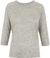 Whistles Laura 3/4 Sleeve Linen T-shirt