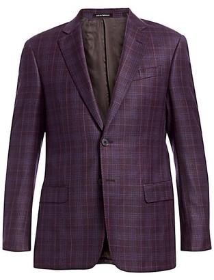 Emporio Armani Wool Check Blazer