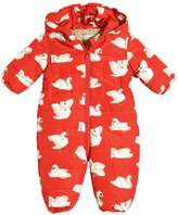 Stella McCartney Swans Print Hooded Nylon Baby Bunting