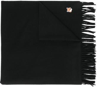 MAISON KITSUNÉ Logo-Patch Fringed Scarf
