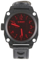U-Boat Thousands of Feet Automatic Red Crystal Leather Band Mens Watch