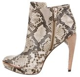 Herve Leger Embossed Ankle Boots w/ Tags