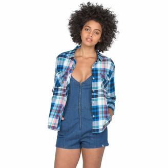 Volcom Women's Tru Flame Long Sleeve Vintage Flannel Top