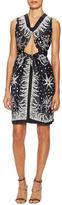 Anna Sui Seafarer Print Crepe De Chine Dress