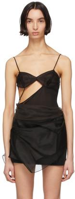 Nensi Dojaka Black Silk 16 Bodysuit