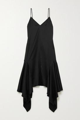 J.W.Anderson Asymmetric Satin Dress - Black