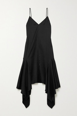 J.W.Anderson Asymmetric Satin Dress - Black