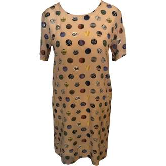Antipodium Beige Silk Dress for Women