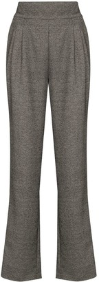 USISI SISTER Flora darted-detail wool trousers