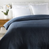 The Well Appointed House Navy Albany Bed Quilt-Available in Three Different Sizes