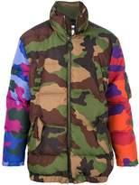 Moschino Men's Multicolor Polyester Coat.