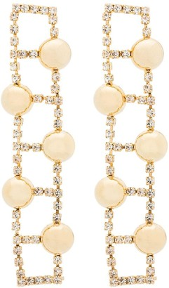 Rosantica Gold-Tone Crystal-Embellished Earrings