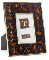 Twos Company Two's Company Diamondback Tortoise Shell 4 x 6 Photo Frame with Gold Rim