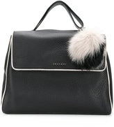 Orciani fur charm tote