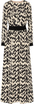 DAY Birger et Mikkelsen Satin-paneled printed chiffon maxi dress