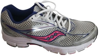 Saucony Silver Cloth Trainers