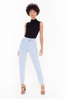 Nasty Gal Womens Don't Forget to Say High-Waisted Mom Jeans - Blue