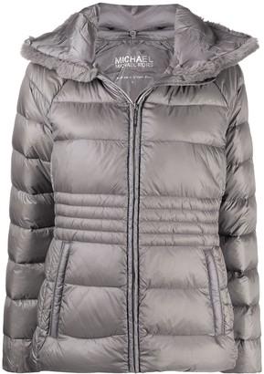 MICHAEL Michael Kors Faux Fur-Trimmed Puffer Jacket