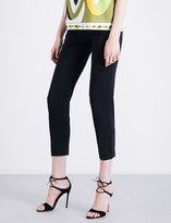 Emilio Pucci Tapered cropped high-rise gabardine trousers