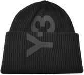 Y-3 Y3 Logo Beanie Hat Black