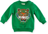 Kenzo Tiger Embroidered Sweater, Green, Size 4-6