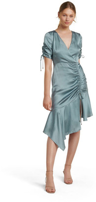 Forever New Sally Satin Ruched Dress