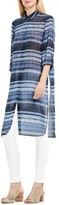 Women's Two By Vince Camuto Textured Skies Stripe Long Tunic