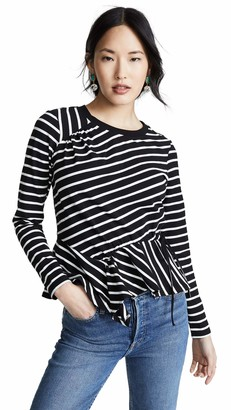 Parker Women's Farris Long Sleeve Ruched Front Top