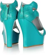 Camilla Skovgaard Indochine leather and patent wedge sandals