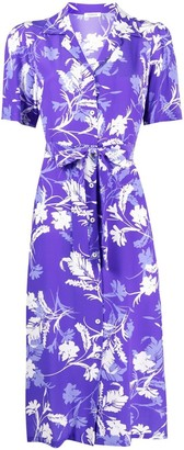 P.A.R.O.S.H. Floral-Print Camp Collar Dress
