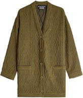 Moschino Textured Cardigan with Wool