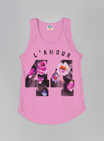 Junk Food Clothing Kids Girls L'amour 44 Tank-kiss-m