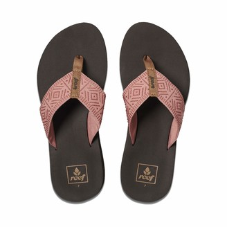 Reef Women's Sandals Spring Woven | Arch Support Flip Flops for Women Dusty Coral