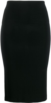 Norma Kamali Mid-Length Fitted Tube-Skirt