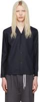 SASQUATCHfabrix. Navy Notched Collar Shirt