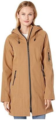 Ilse Jacobsen Soft Shell 3/4 Length Functional Rain Coat (Otter) Women's Coat