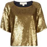 MICHAEL Michael Kors sequin embellished top - women - Cotton/Plastic/Modal - XXS