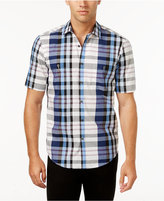 Alfani Men's Big and Tall Classic Fit Plaid Shirt, Only at Macy's