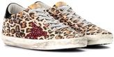 Golden Goose Deluxe Brand Superstar leopard-printed suede sneakers