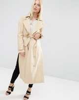 Asos Trench with Raglan Sleeve in Midi Length
