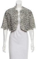Andrew Gn 2015 Open Front Guipure Lace-Trimmed Jacket w/ Tags