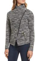 Halogen Knit Moto Jacket (Petite)