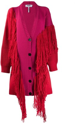 MSGM fringed cardigan coat