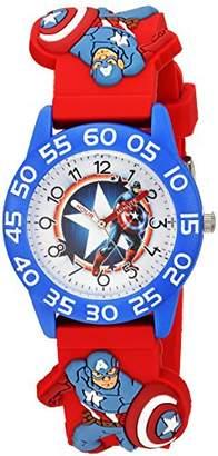 Marvel Boys' Captain America Analog-Quartz Watch with Plastic Strap