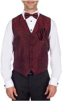 Buy Your Ties Men's Fashion Paisley Formal Vest Bow Tie and Hanky Set