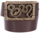 Roberto Cavalli Snake Buckle Belt