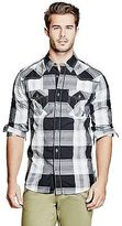 GUESS Men's Stan Slim-Fit Plaid Shirt