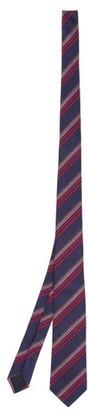 Gucci Stripe-jacquard Silk-blend Twill Tie - Navy